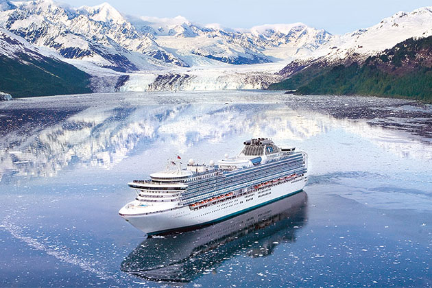 Princess Cruises' ship in Alaska