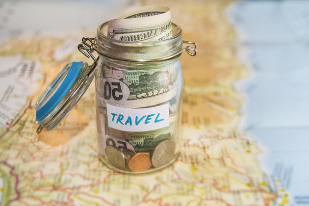 Travel savings jar