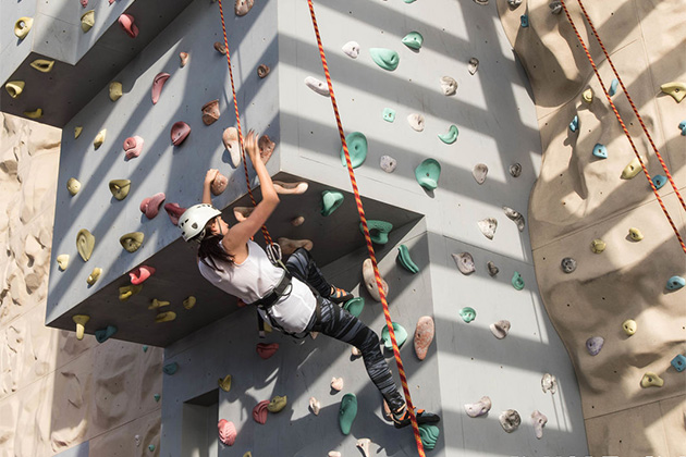 Rock Climbing Wall on Norwegian Epic