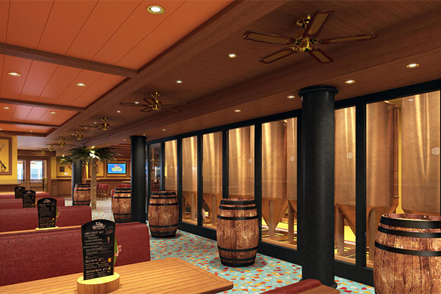 Rendering of the copper vats in Carnival Vista's RedFrog Pub & Brewery