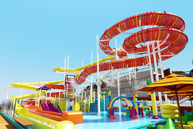 Rendering of the Kaleid-O-Slide and waterpark