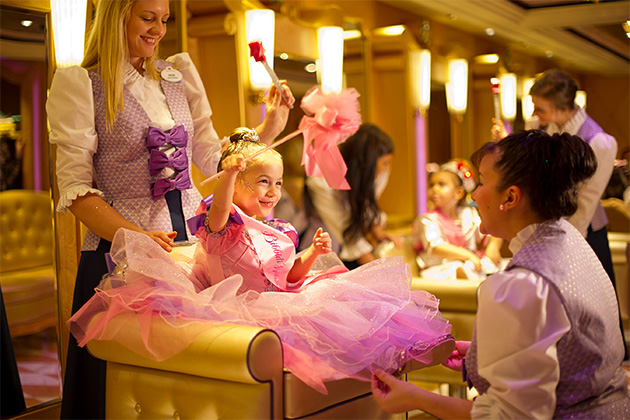 The full princess treatment at Diney's Bibbidi Bobbidi Boutique