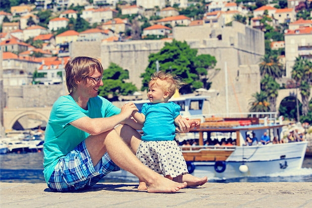 Father and daughter in Croatia
