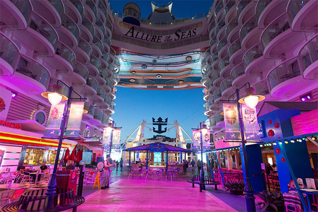Boardwalk on Allure of the Seas