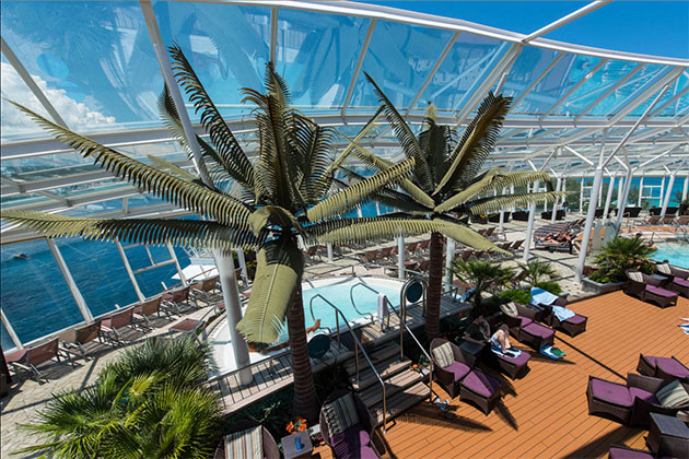 The Solarium on Oasis of the Seas