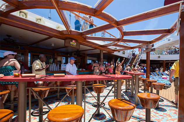 RedFrog Rum Bar seating area on Carnival Sunshine