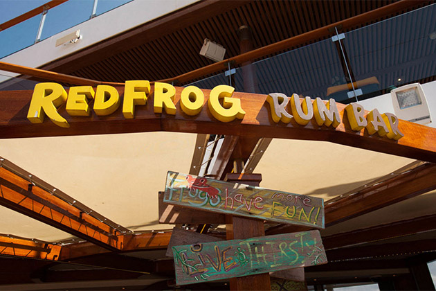 Redfrog Rum Bar On Carnival Cruise Line Plus Menu