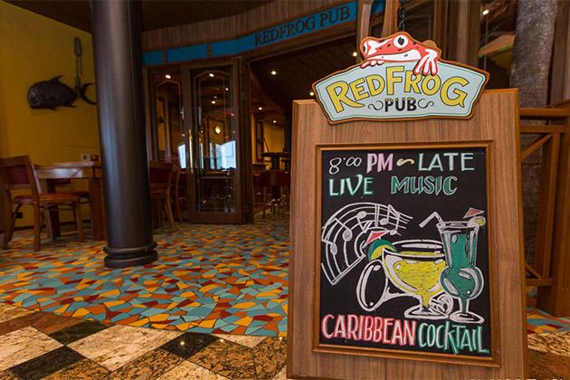 Redfrog Pub On Carnival Cruise Line Plus Menu Cruise