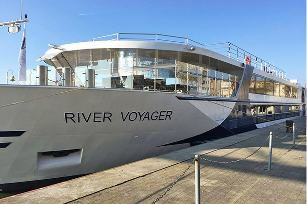 River Voyager docked in Basel port