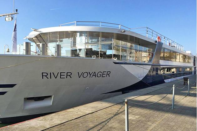River Voyager docked in Basel port