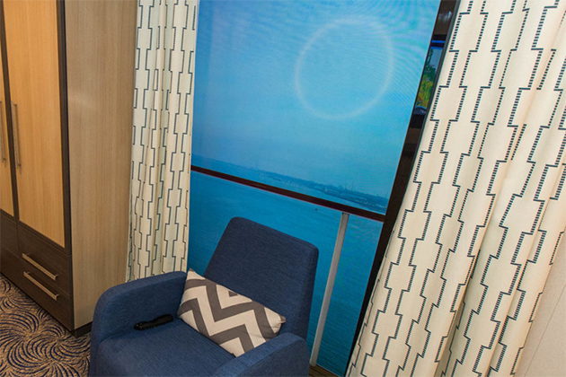 Virtual balconies on royal caribbean cruise critic for Balcony view on cruise