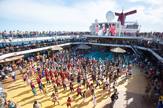 Deck party onboard Carnival Breeze