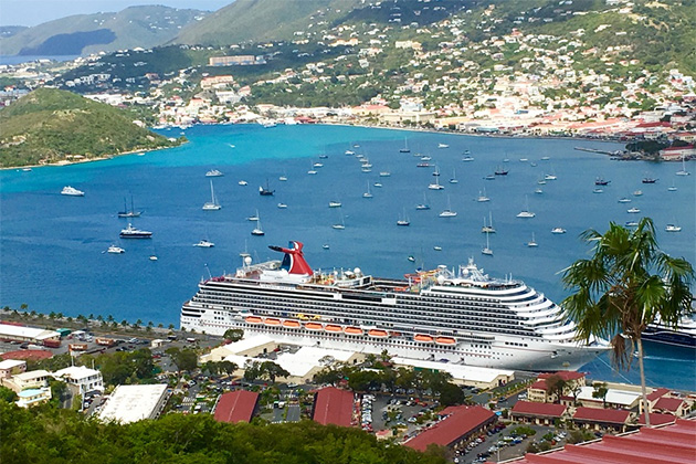 Carnival Breeze docked at St. Thomas
