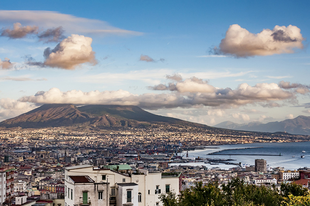 Naples and Mount Vesuvius During the Winter