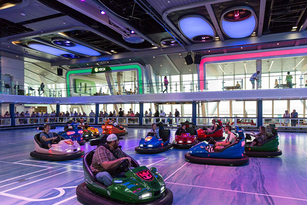SeaPlex bumper cars on Anthem of the Seas