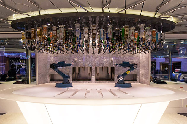 The Bionic Bar of Ovation's sister ship, Anthem of the Seas