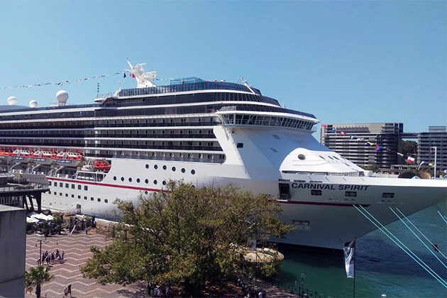 Carnival Spirit docked in port
