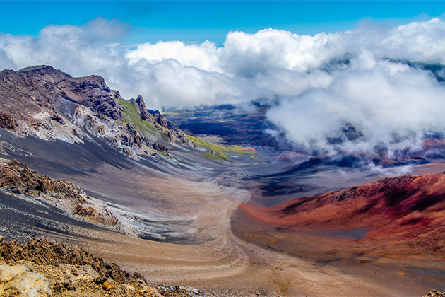 Aerial of Hawaii's Haleakala National Park
