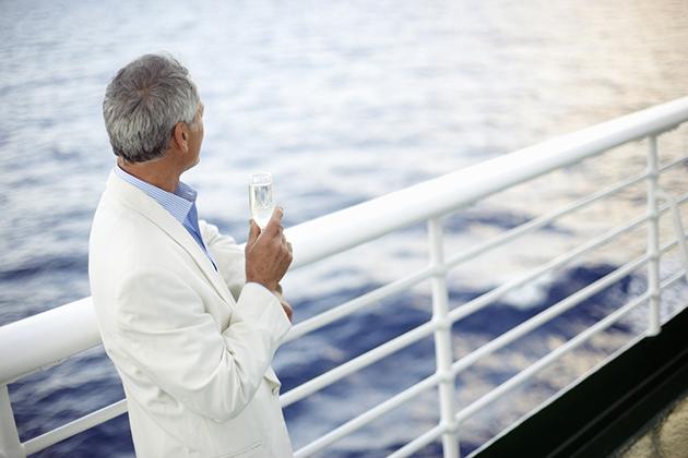 Senior gentleman on a cruise