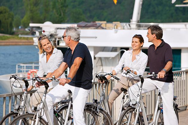 Uniworld's S.S. Antoinette - Bike Riding