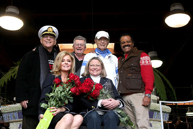 The Original 'Love Boat' Cast decorates Princess Cruises' Rose Parade Float at a Rosemont Pavilion on December 30, 2014 in Pasadena, CA