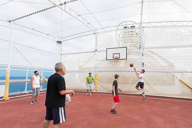 Sports Court on Caribbean Princess