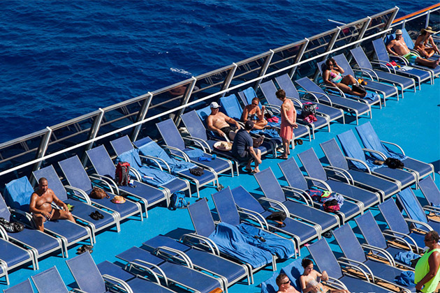 Chair hogs on Carnival Splendor
