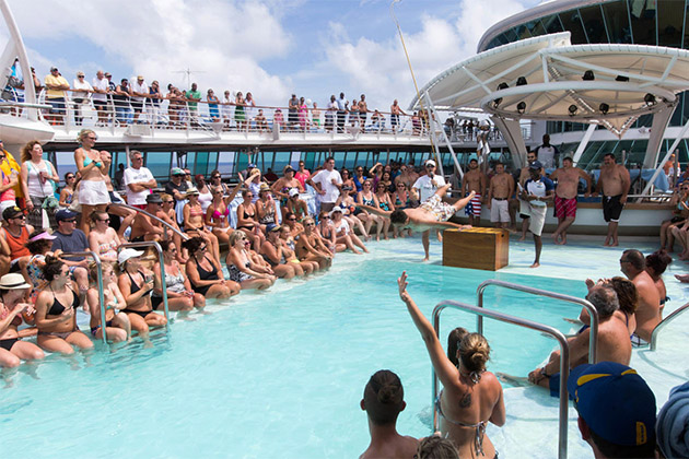 Men's Belly Flop Competition on Enchantment of the Seas