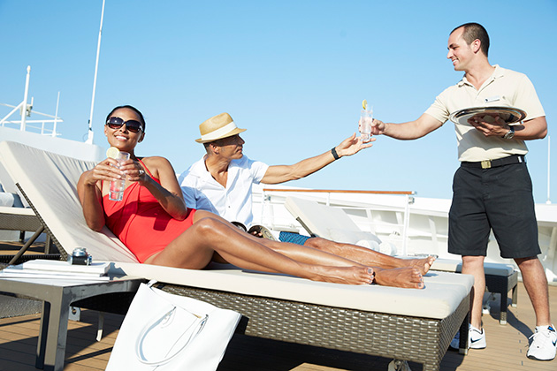 Relaxing on Seabourn's sundeck