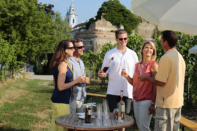 Durnstein wine tasting, Austria