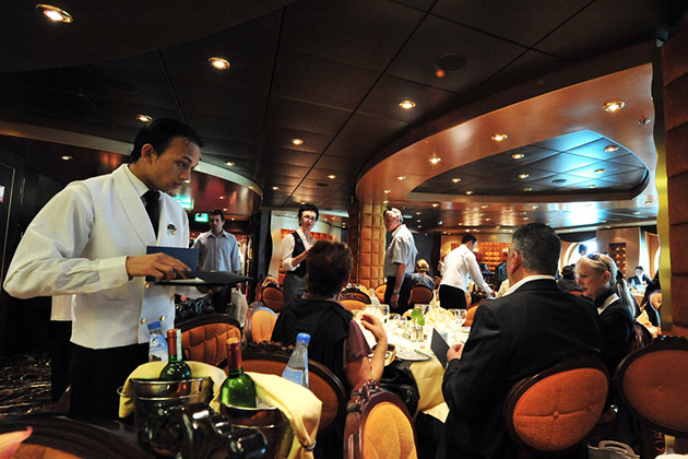 Passengers eats on board MSC - SPLENDIDA
