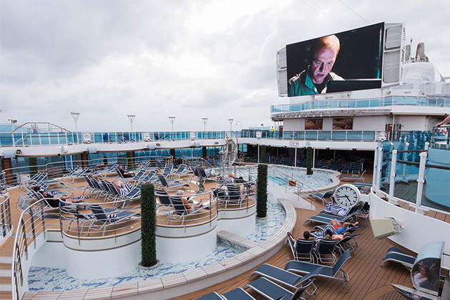 Movies Under the Stars on Royal Princess