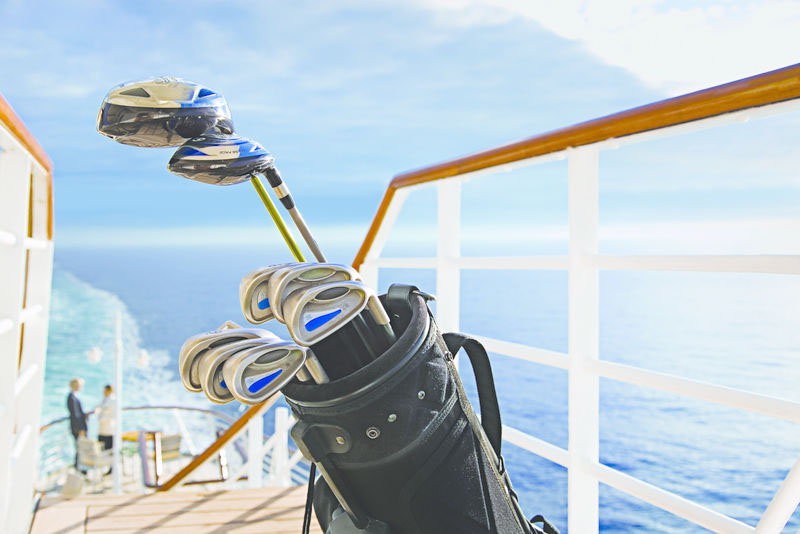 tee-off at sea and ashore