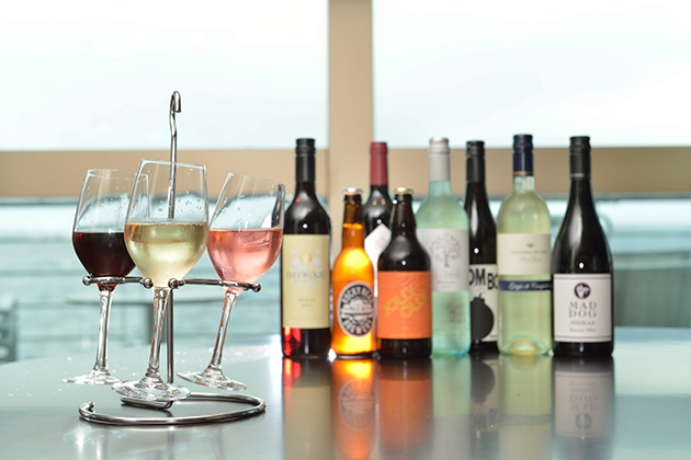 The Glasshouse Wine Flights on P&O Britannica