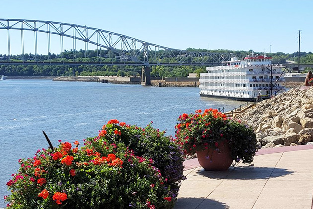 Queen of the Mississippi docked at Dubuque, Iowa