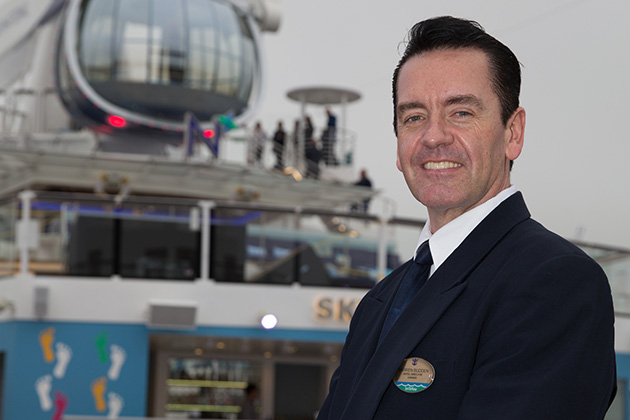 Royal Caribbean International launches Quantum of the Seas, the newest ship in the fleet, in November 2014 Darren Budden, Hotel Director.