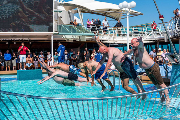 Belly Flop Contest on Rhapsody of the Seas