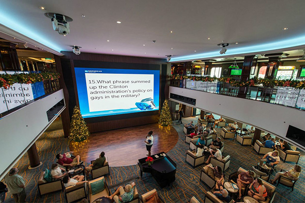 Trivia in the Atrium on Norwegian Escape