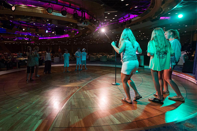 Karaoke en Enchantment of the Seas