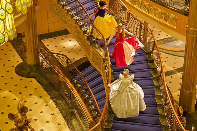 Disney Fantasy Atrium Lobby – Disney Princesses