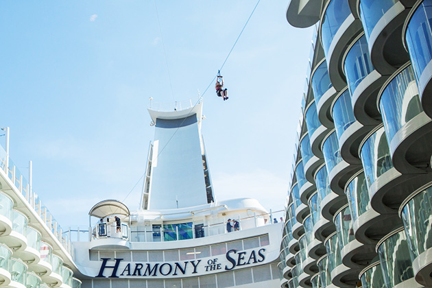 Ziplining on Harmony of the Seas