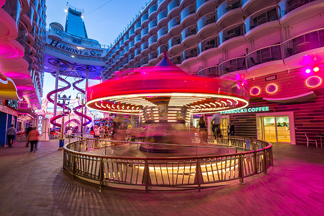 Boardwalk on Harmony of the Seas