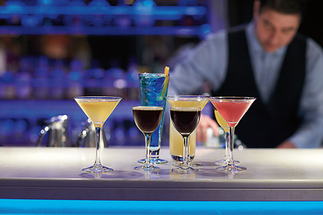Mixologist at the Gallery Bar onboard Holland America's Eurodam