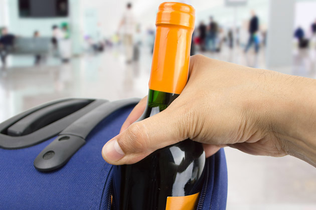 Alcohol in Suitcase