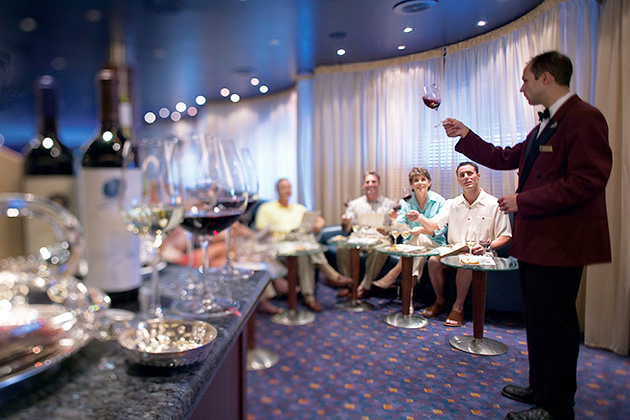 Regent Seven Seas wine demo