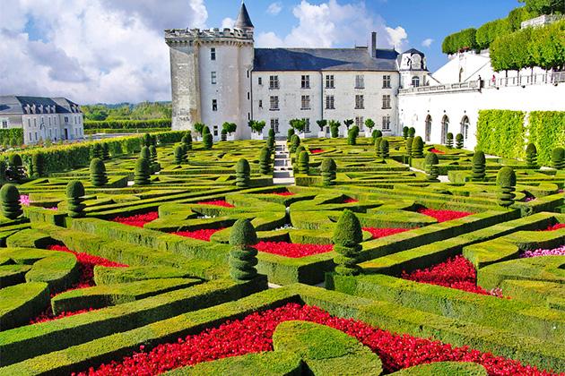 Beautiful Villandry castle , Loire valley, France