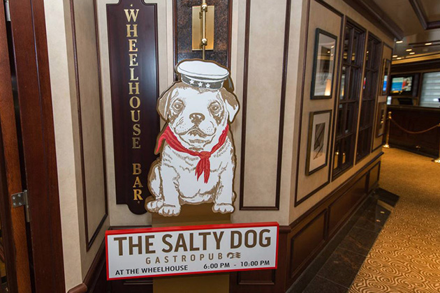 The Salty Dog Gastropub on Ruby Princess