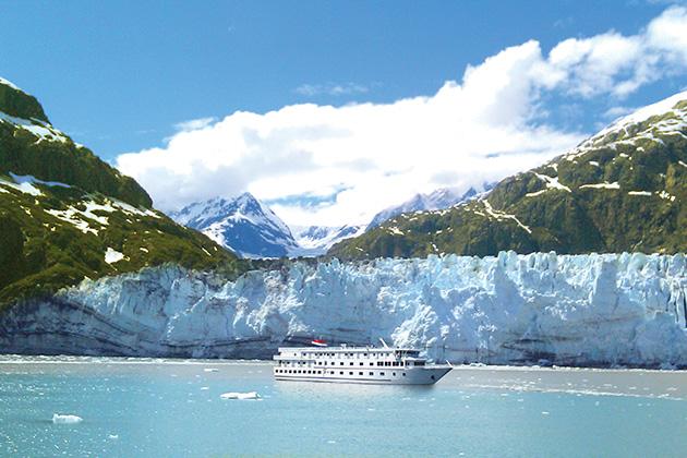 American Cruise Lines near Alaskan Glaciers