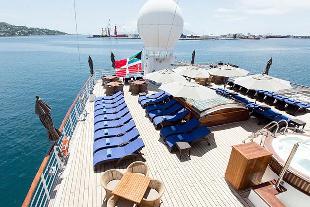 Aft Deck on Wind Spirit