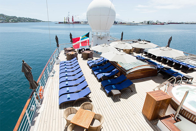 The Aft Deck on Wind Spirit